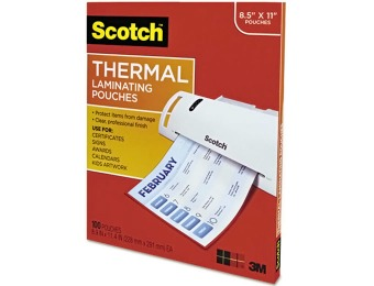 "64% off Scotch Thermal Laminating Pouches 8.9"" x 11.4"", 100-Pack"
