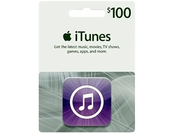 $20 off $100 Apple iTunes Gift Card