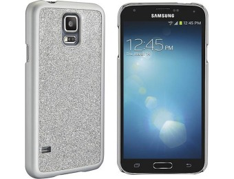 97% off Dynex Silver Glitter Case for Samsung Galaxy S5 Cell Phones