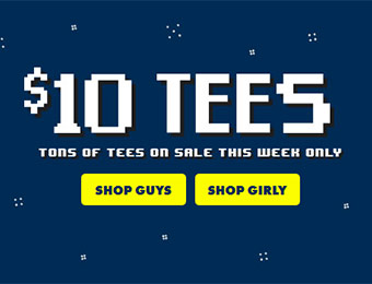 $10 Tees - Tons of t-shirts on sale this week only