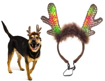 80% off Plush Puppies LED Antlers Headband for Dogs