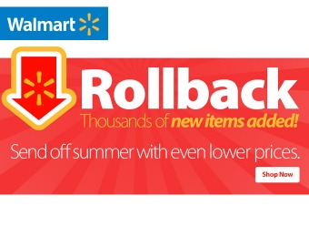 Walmart Rollback Madness Sale - Low prices just got even lower!