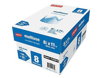"60% off Staples Multiuse Copy Paper, 8 1/2"" x 11"", 8-Ream Case"