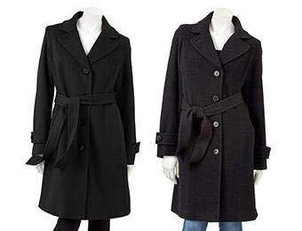 $140 off Bromley Wool Walker Coat (black or charcoal)