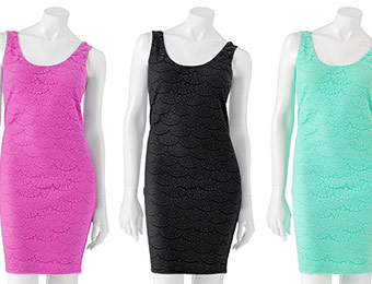 70% off Candie's Lace Body Con Dress (Juniors)