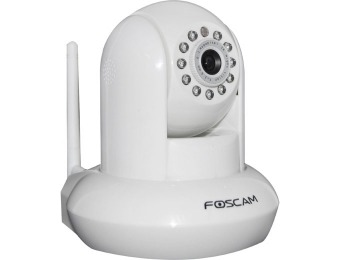 $105 off Foscam FI8910W Pan/Tilt Wireless Night Vision IP Camera