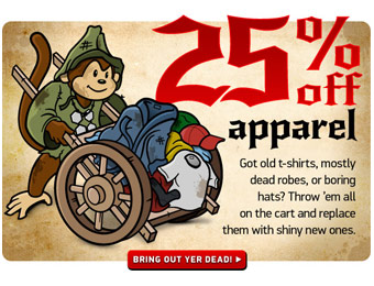 25% Or More Off Apparel at ThinkGeek