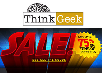 Up To 75% Off Over 800 Items at ThinkGeek