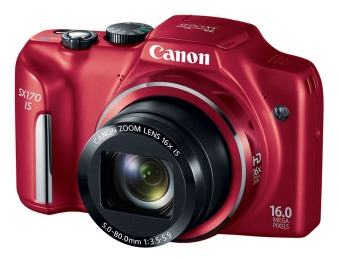 28% off Canon PowerShot SX170 IS 16MP Digital Camera - Red