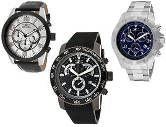 87% Off Invicta Specialty Chronograph Men's Watches