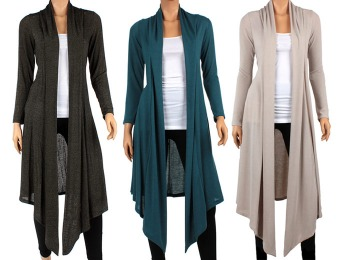 82% off Hacci Knee-Length Women's Cardigan, Multiple Styles