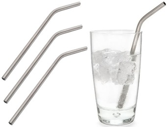 61% off HealthPro Titanium Super Strong Drinking Straws (Pack of 4)