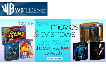WBShop Sale - Up to 75% off DVD & Blu-ray Movies and TV Shows