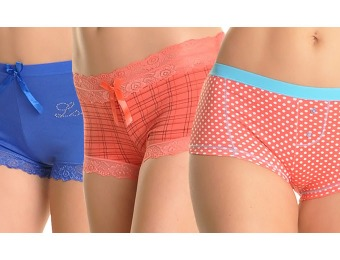 76% off 12-Pack Women's Boxers & Boyshorts, Assorted Colors