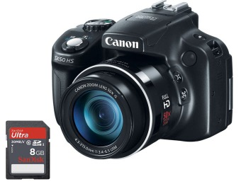 $55 off PowerShot SX50 HS 12.1MP Camera + Free 8GB Memory Card