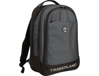 "92% off Timberland Loudon 17"" Laptop Backpack, Grey/Black"
