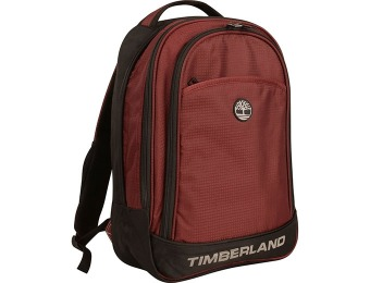 "92% off Timberland Loudon 17"" Laptop Backpack, Wine/Black"