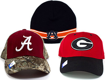 $5.99 NCAA Caps, Camo Caps, and Beanies - Up to 85% off!