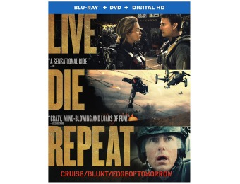 83% off Live Die Repeat: Edge of Tomorrow Blu-ray + DVD Combo