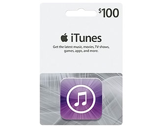 $20 off Apple $100 iTunes Gift Card