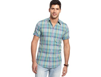 84% off Club Room Riviera Plaid Slim-Fit Shirt