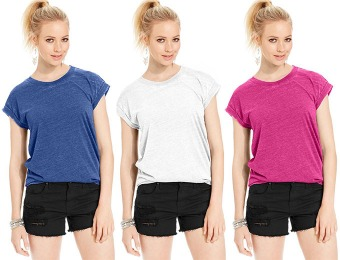 97% off Planet Gold Juniors' Burnout Muscle Tee, 5 Colors
