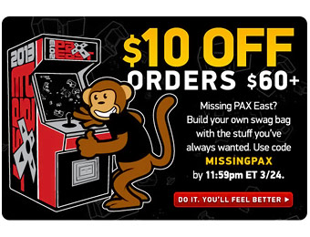 Save $10 Off Orders of $60+ at ThinkGeek w/ Code: MISSINGPAX