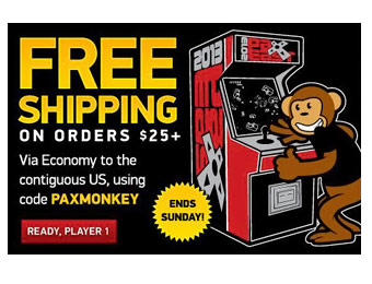 Free Shipping on Orders $25+ at ThinkGeek w/ Code: PAXMONKEY
