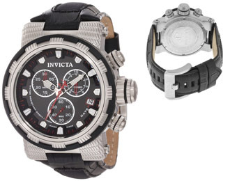 76% Off Invicta 11230 Reserve Chronograph Leather Watch