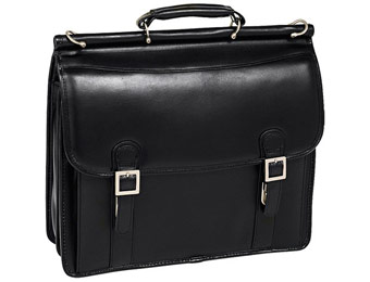 68% Off McKleinUSA Halsted Black Leather Laptop Case