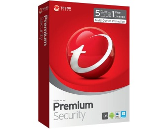70% off Trend Micro Premium Security 2015 - 5 Devices
