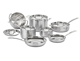 64% Off Cuisinart MCP-12N Pro 12pc Stainless Steel Cookware Set