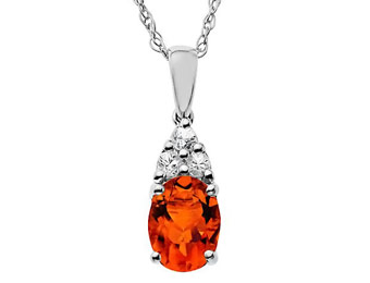 67% Off Sterling Silver 1.875ct Padparadscha & Sapphire Pendant