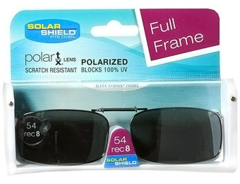 71% off Solar Shield Polarized Lenses Clip-On Sunglasses