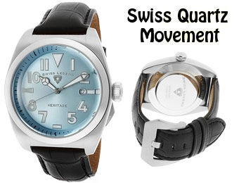 92% Off Swiss Legend SL-20434-012 Heritage Swiss Leather Watch