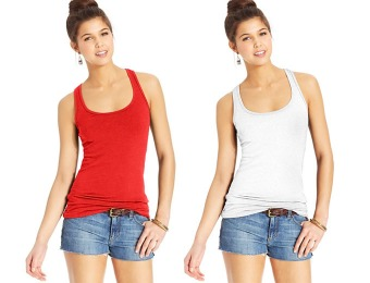 80% off Planet Gold Juniors' Racerback Tank Top, 12 Colors