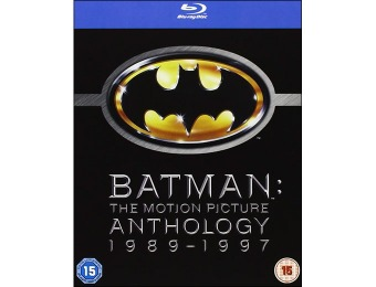 87% off Batman: Motion Picture Anthology 1989-1997 Blu-ray