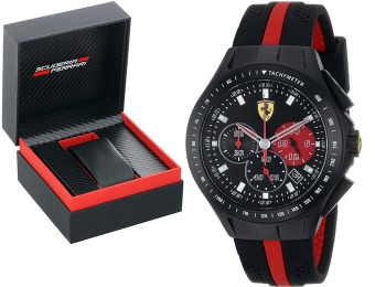 $240 off Ferrari 0830023 Race Day Men's Analog Black Watch