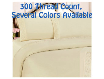 72% Off Sheradian Cotton Blend Sheet Sets (Twin,Full,Queen,King)
