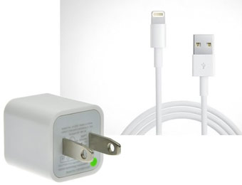 74% Off USB Wall Charger w/ 3ft iPhone 5 Cable