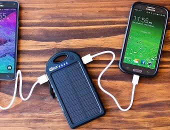85% off Creative Edge Solar-5 Solar 5000mAh Portable Power Bank