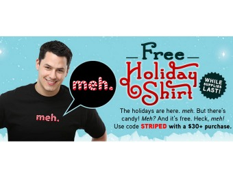 Free Holiday Meh T-Shirt from ThinkGeek with $30+ Purchase