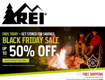 REI Black Friday Sale - Up to 50% off + Free Shipping No Minumum