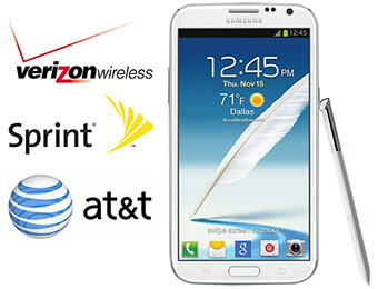 $100 off Samsung Galaxy Note II with 2 year contract