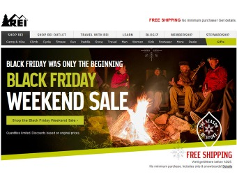 REI Black Friday Weekend Sale - Up to 50% off + Free Shipping