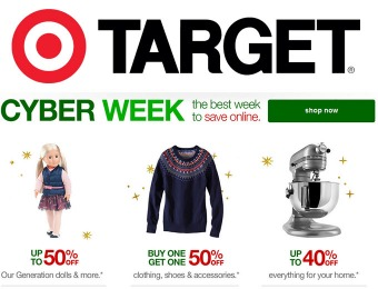 Target Cyber Week Deals - Extra 15% off Everything