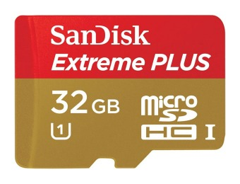 $81 off 32GB SanDisk Extreme PLUS microSDHC Memory Card