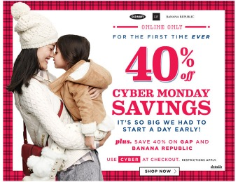 Old Navy Cyber Monday Sale Event - 40% off Everything