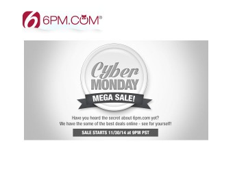 6PM.com Cyber Monday Deals - Huge Savings on Top Brands