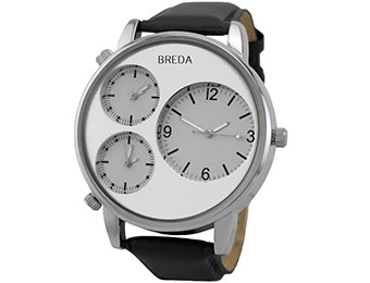 43% off Breda Men's 1627-silver Multi Time Zone Watch